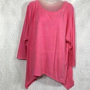 Calvin Klein performance pink shirt tee top 2X